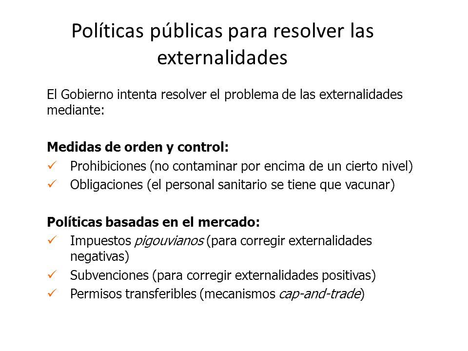 Políticas públicas para resolver las externalidades
