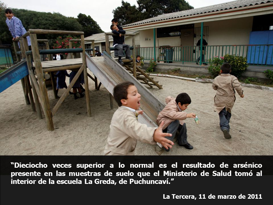 Dieciocho veces superior a lo normal es el resultado de arsénico presente en las muestras de suelo que el Ministerio de Salud tomó al interior de la escuela La Greda, de Puchuncaví.