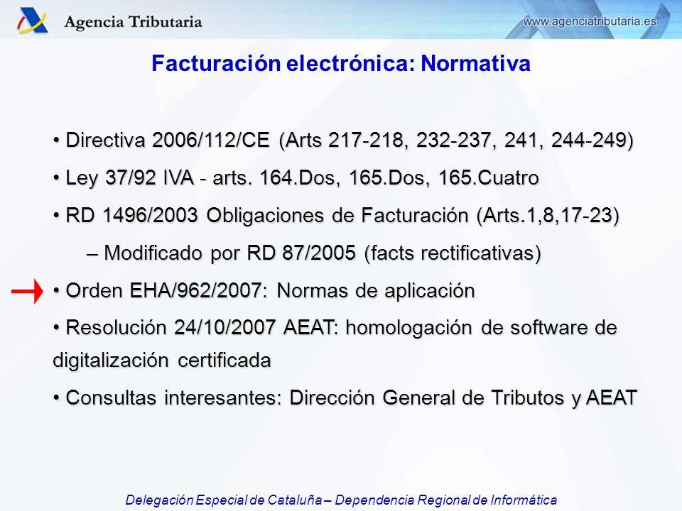Facturación electrónica: Normativa