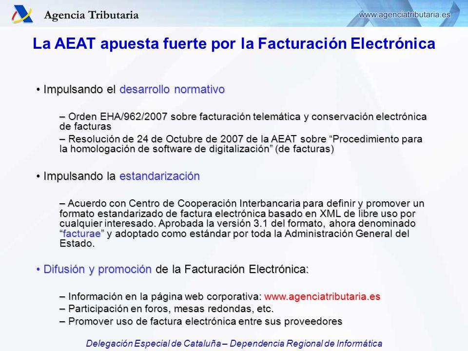 La AEAT apuesta fuerte por la Facturación Electrónica
