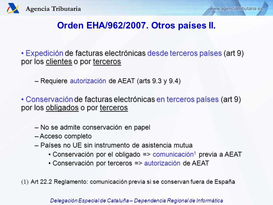 Orden EHA/962/2007. Otros países II.