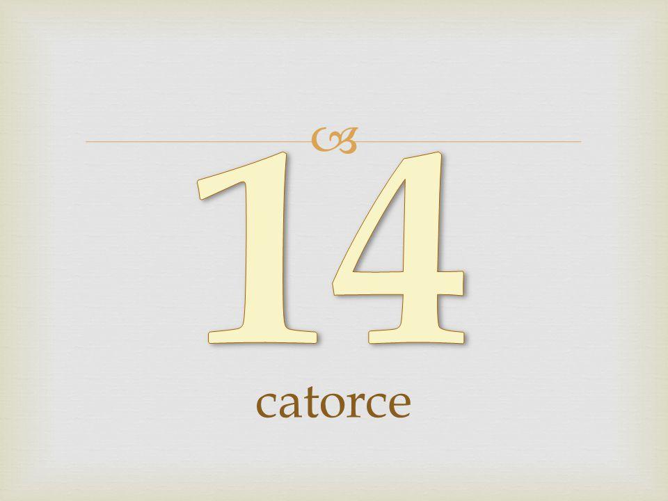 14 catorce