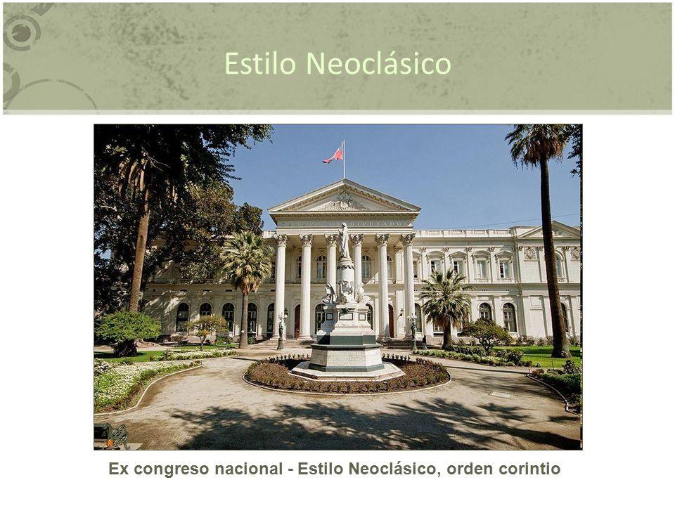 Ex congreso nacional - Estilo Neoclásico, orden corintio
