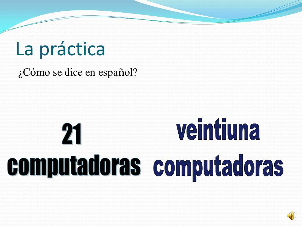 veintiuna 21 computadoras computadoras La práctica