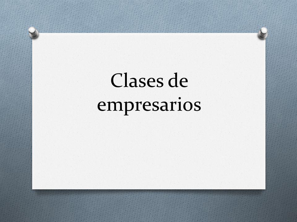 Clases de empresarios