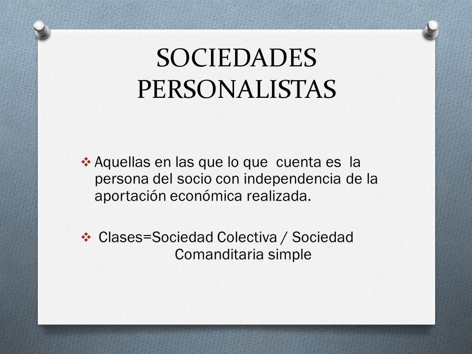 SOCIEDADES PERSONALISTAS