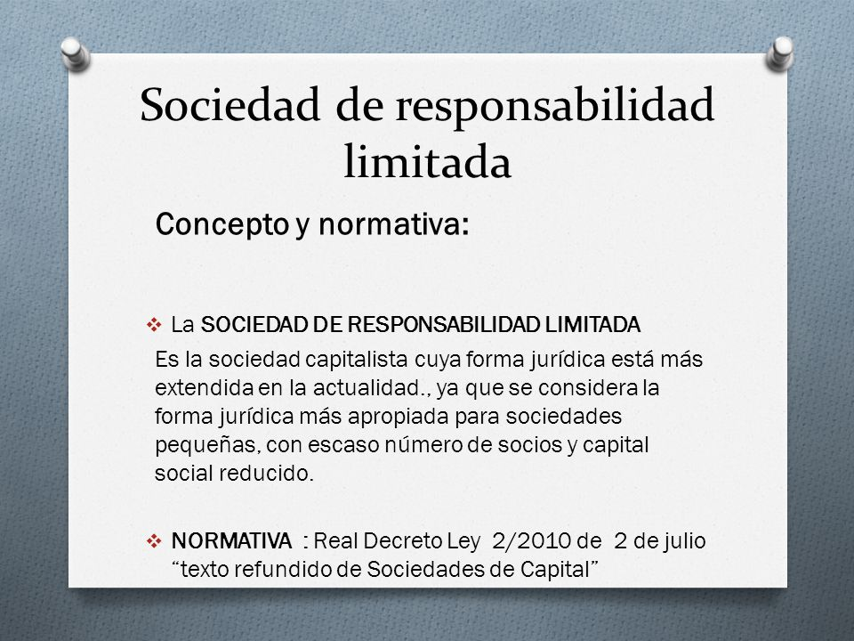 Sociedad de responsabilidad limitada