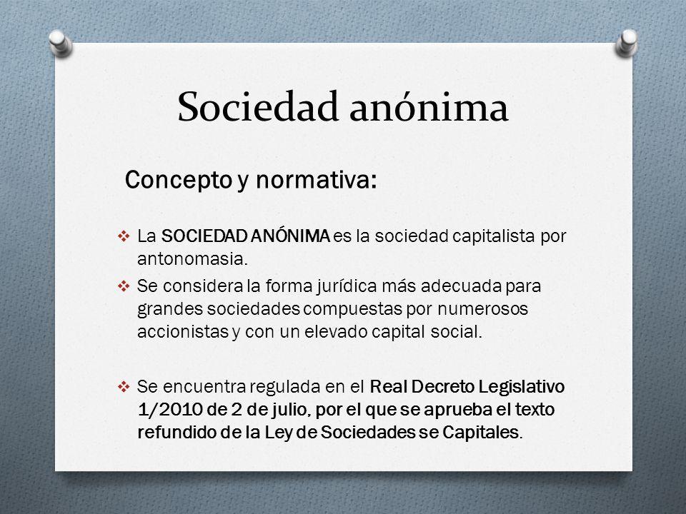 Sociedad anónima Concepto y normativa: