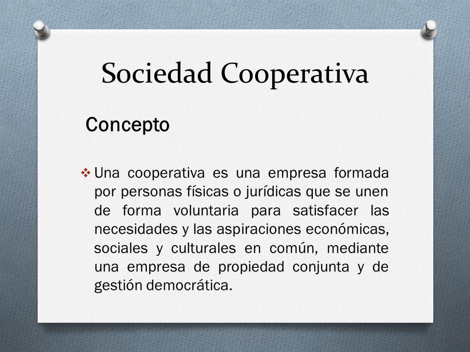 Sociedad Cooperativa Concepto