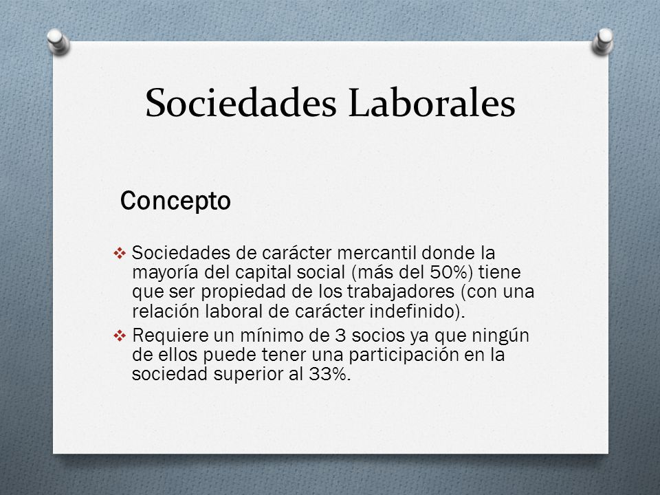 Sociedades Laborales Concepto