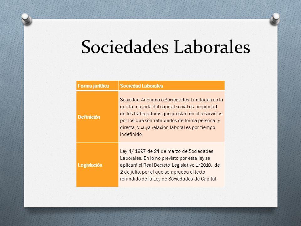 Sociedades Laborales Forma jurídica Sociedad Laborales Definición