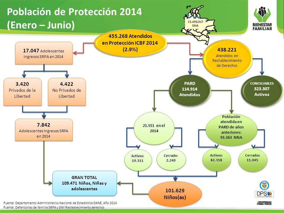 Población de Protección 2014 (Enero – Junio)