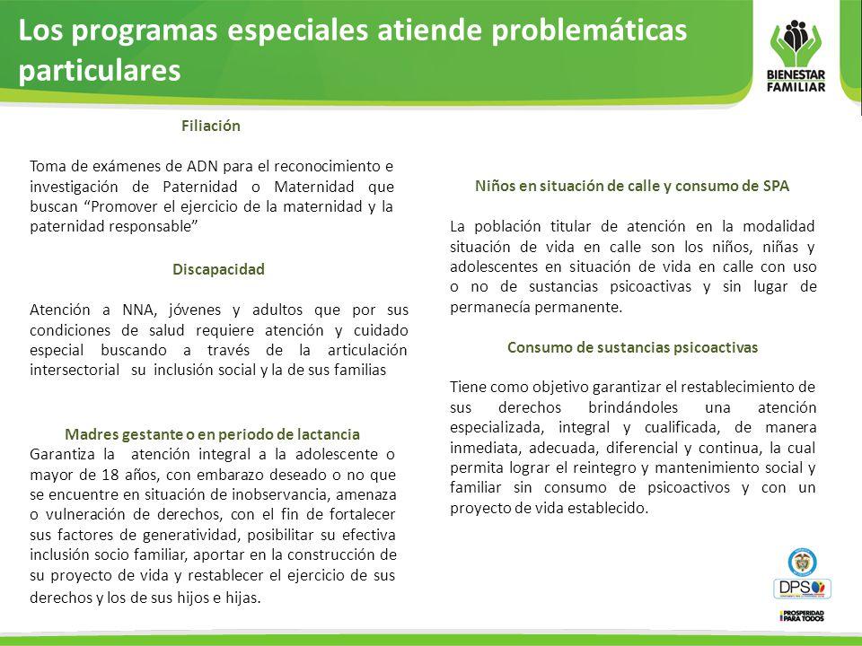 Los programas especiales atiende problemáticas particulares