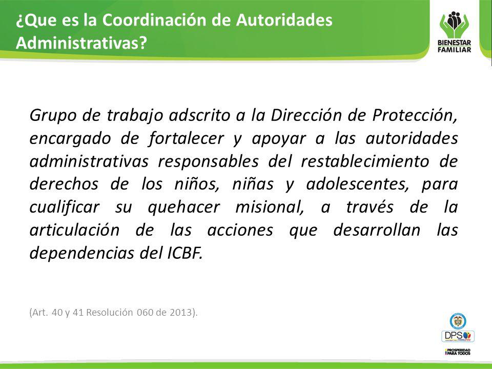 ¿Que es la Coordinación de Autoridades Administrativas