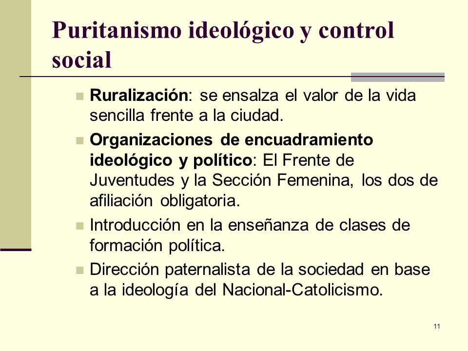 Puritanismo ideológico y control social