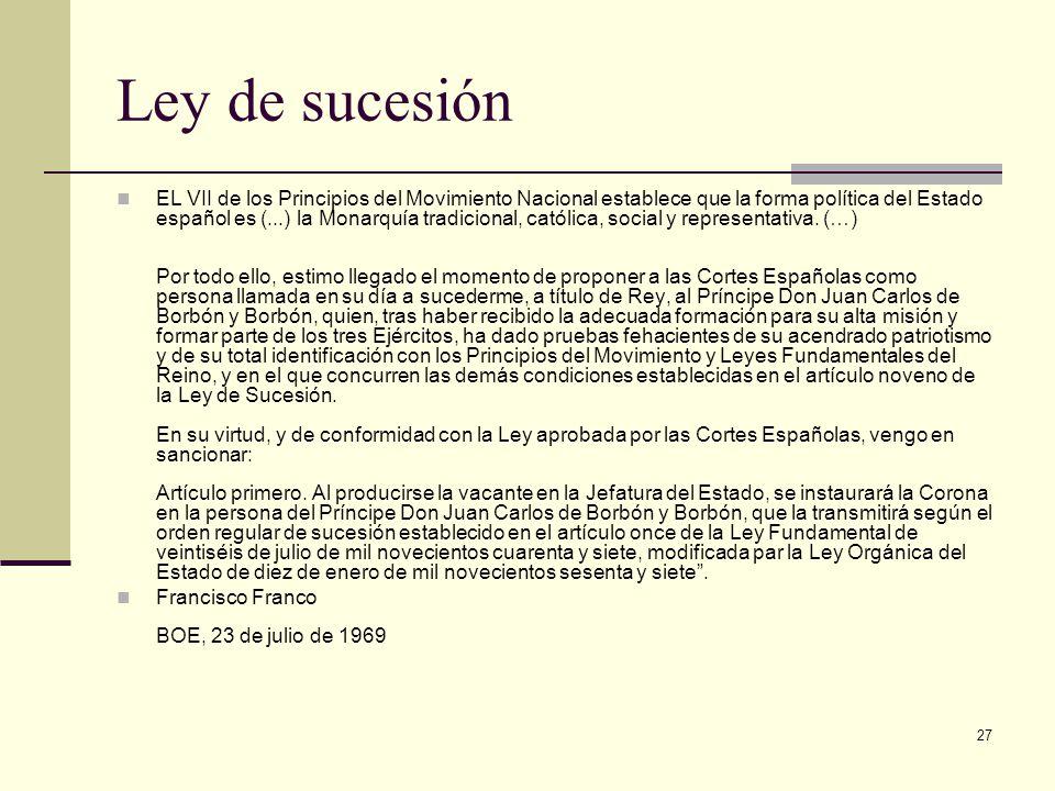 Ley de sucesión