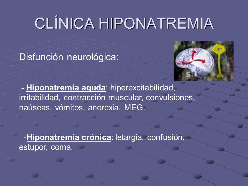CLÍNICA HIPONATREMIA Disfunción neurológica: