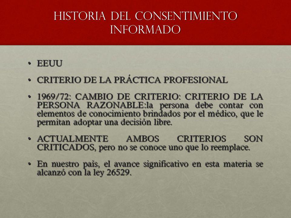 HISTORIA DEL CONSENTIMIENTO INFORMADO