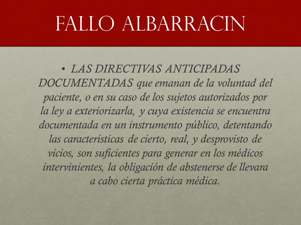 FALLO ALBARRACIN