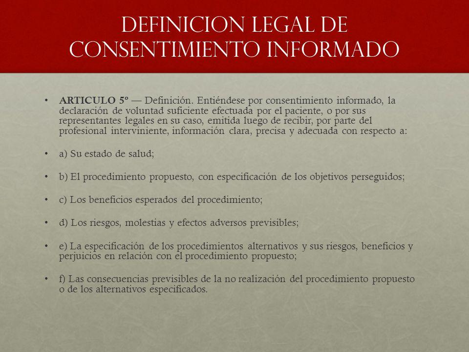 Definicion legal de consentimiento informado