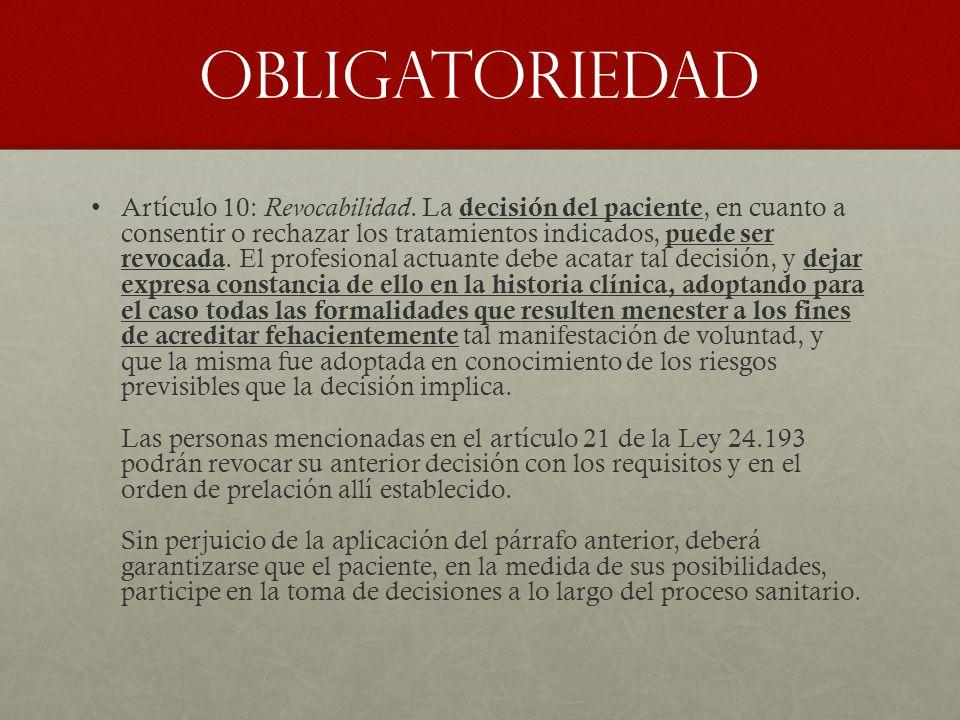 OBLIGATORIEDAD