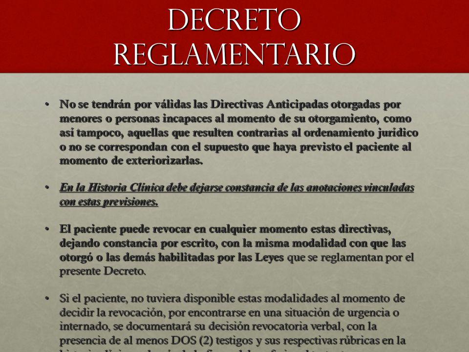DECRETO REGLAMENTARIO