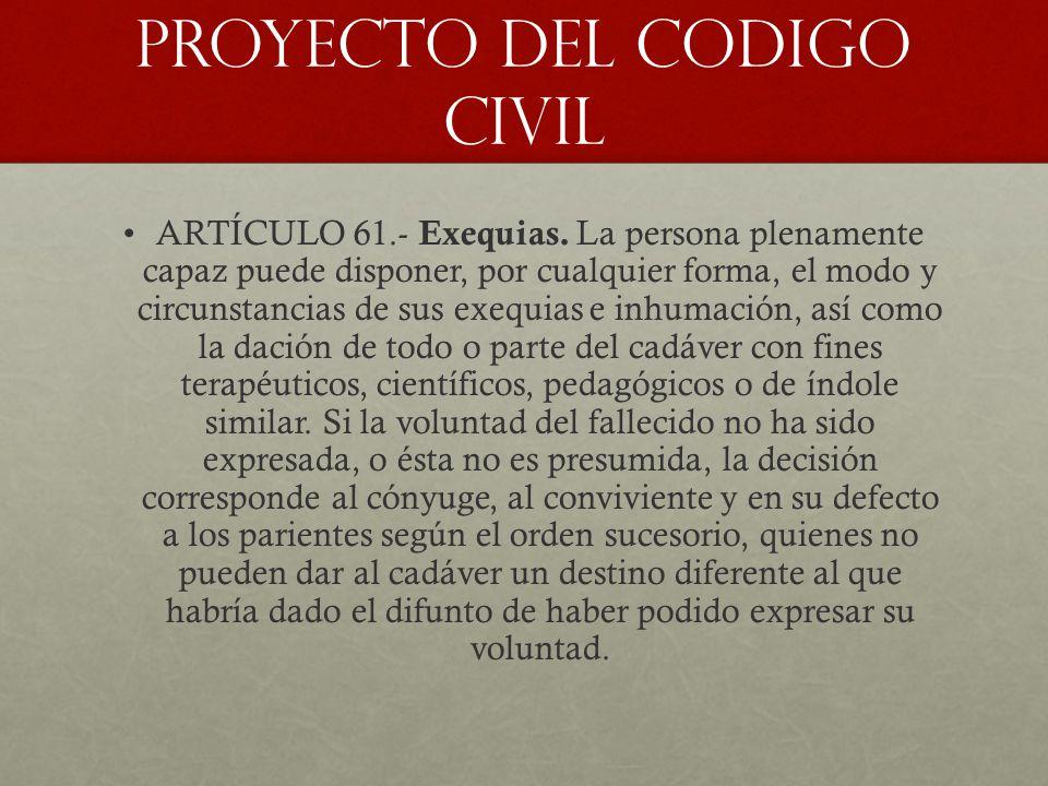 PROYECTO DEL CODIGO CIVIL