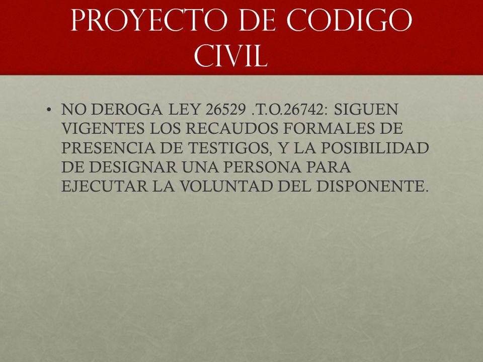 PROYECTO DE CODIGO CIVIL