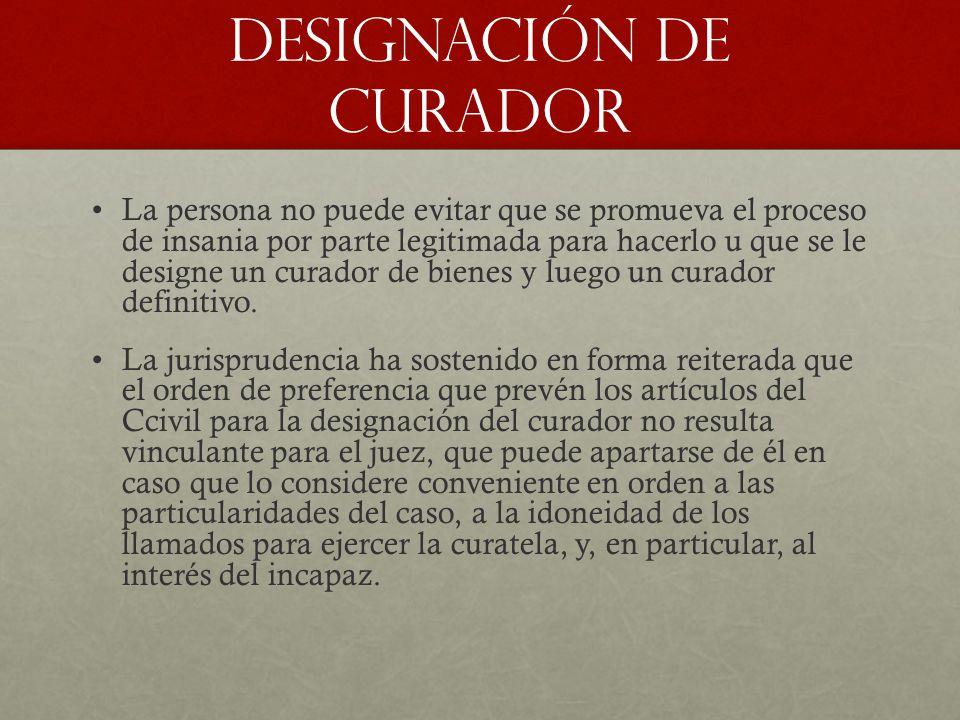 DESIGNACIÓN DE CURADOR