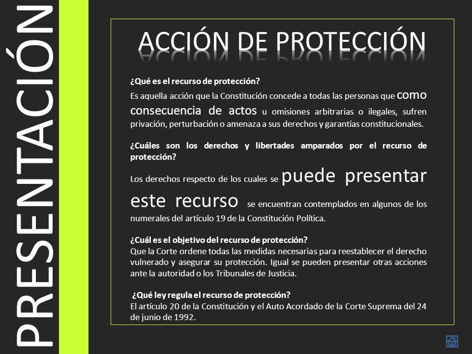 PRESENTACIÓN ACCIÓN DE PROTECCIÓN ¿Qué es el recurso de protección