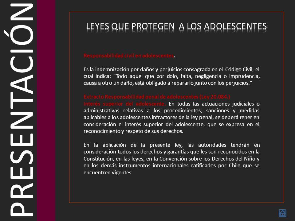 PRESENTACIÓN LEYES QUE PROTEGEN A LOS ADOLESCENTES