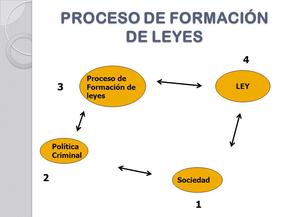 PROCESO DE FORMACIÓN DE LEYES