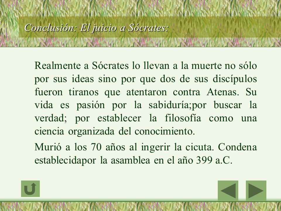 Conclusión: El juicio a Sócrates: