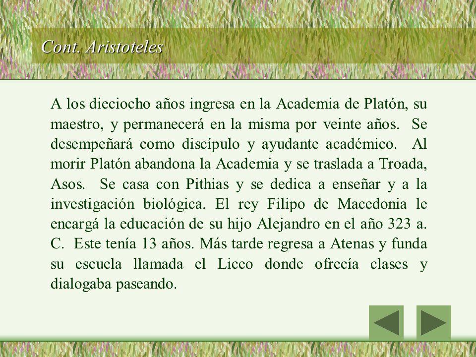 Cont. Aristoteles