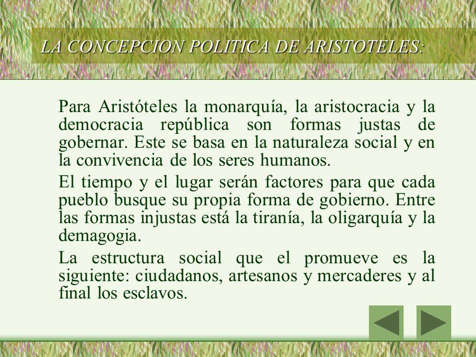LA CONCEPCION POLITICA DE ARISTOTELES: