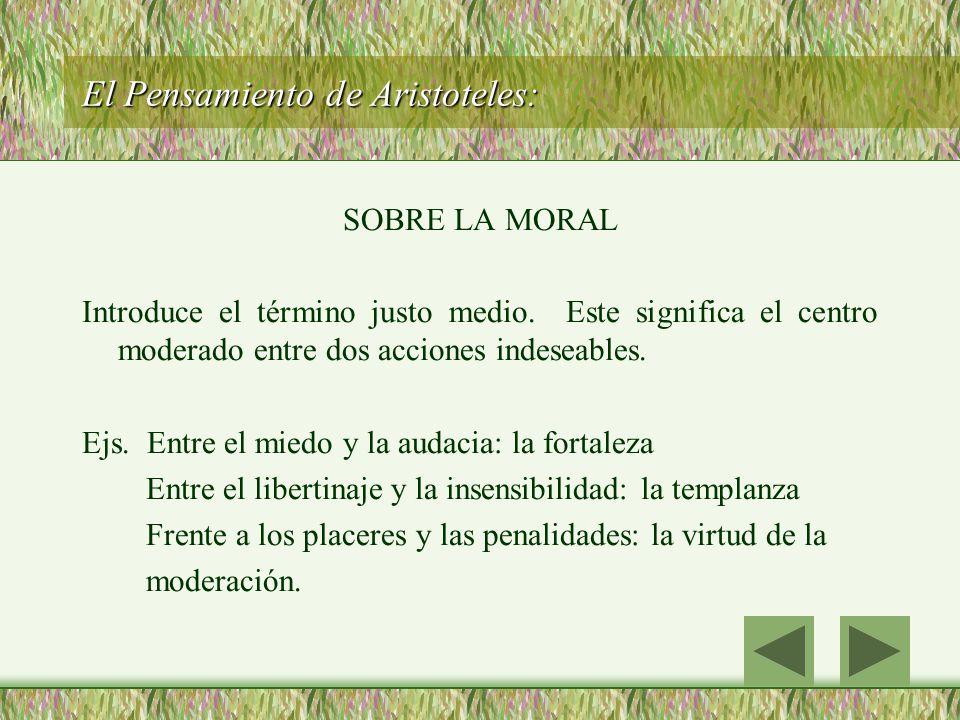 El Pensamiento de Aristoteles:
