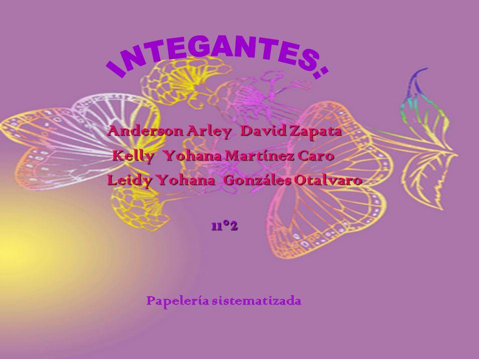 INTEGANTES: Anderson Arley David Zapata Kelly Yohana Martínez Caro