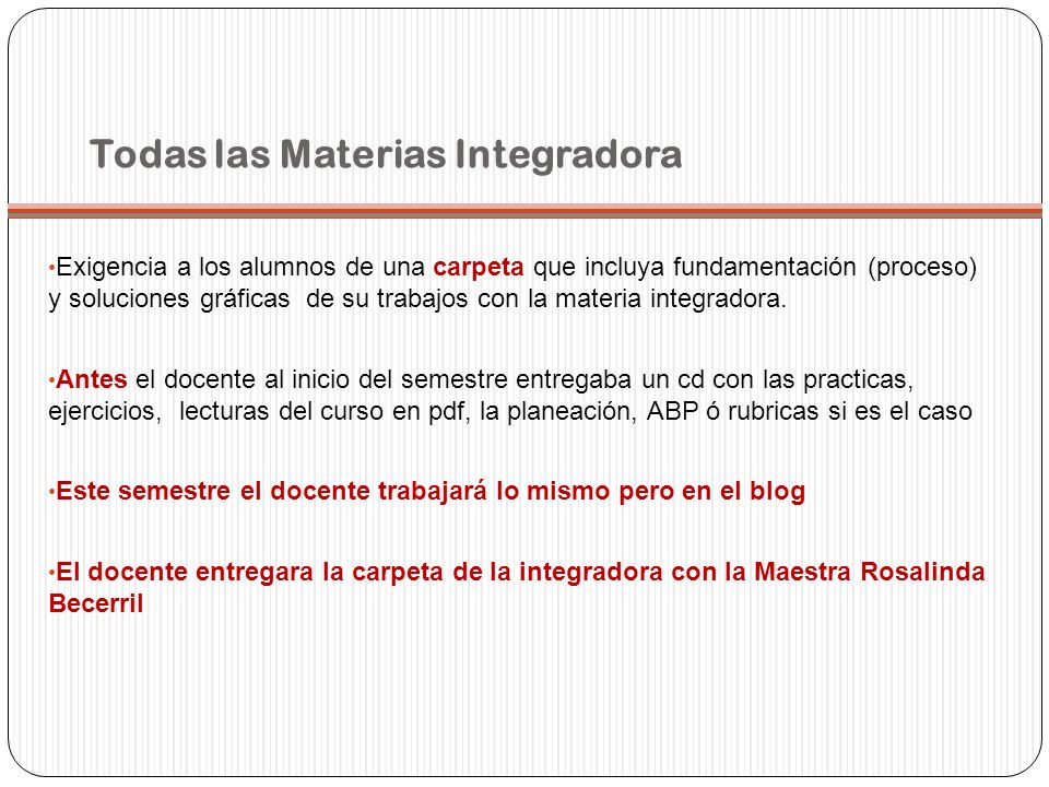 Todas las Materias Integradora