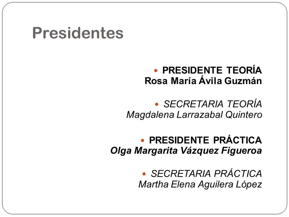 Presidentes PRESIDENTE TEORÍA Rosa María Ávila Guzmán