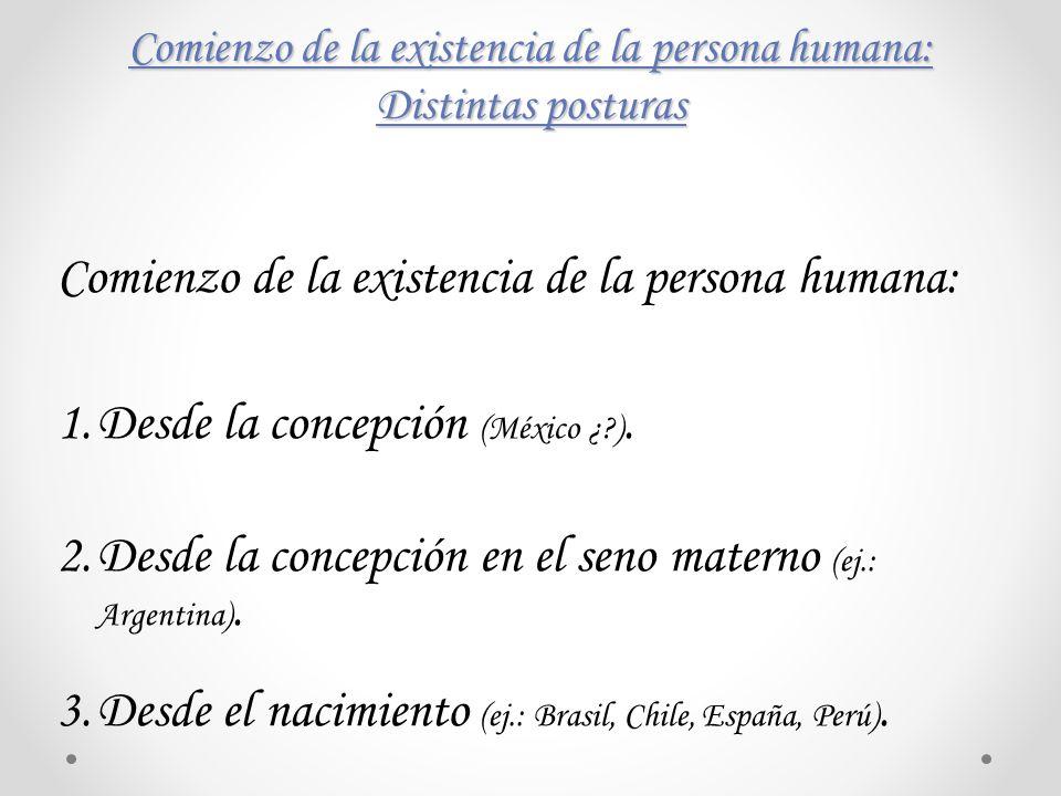 Comienzo de la existencia de la persona humana: Distintas posturas