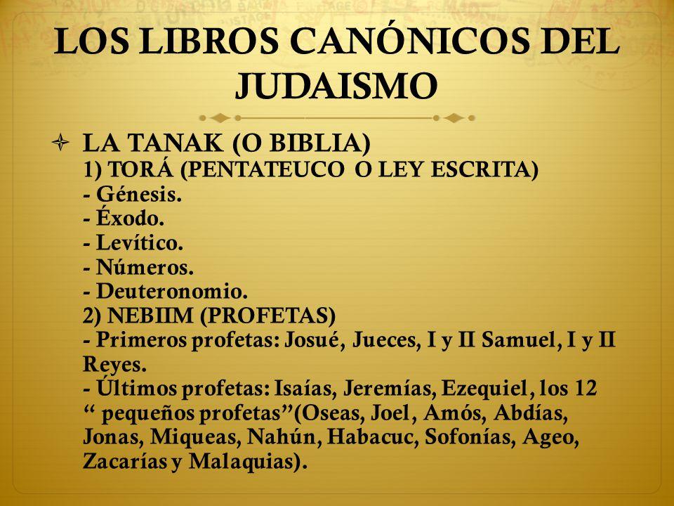 LOS LIBROS CANÓNICOS DEL JUDAISMO