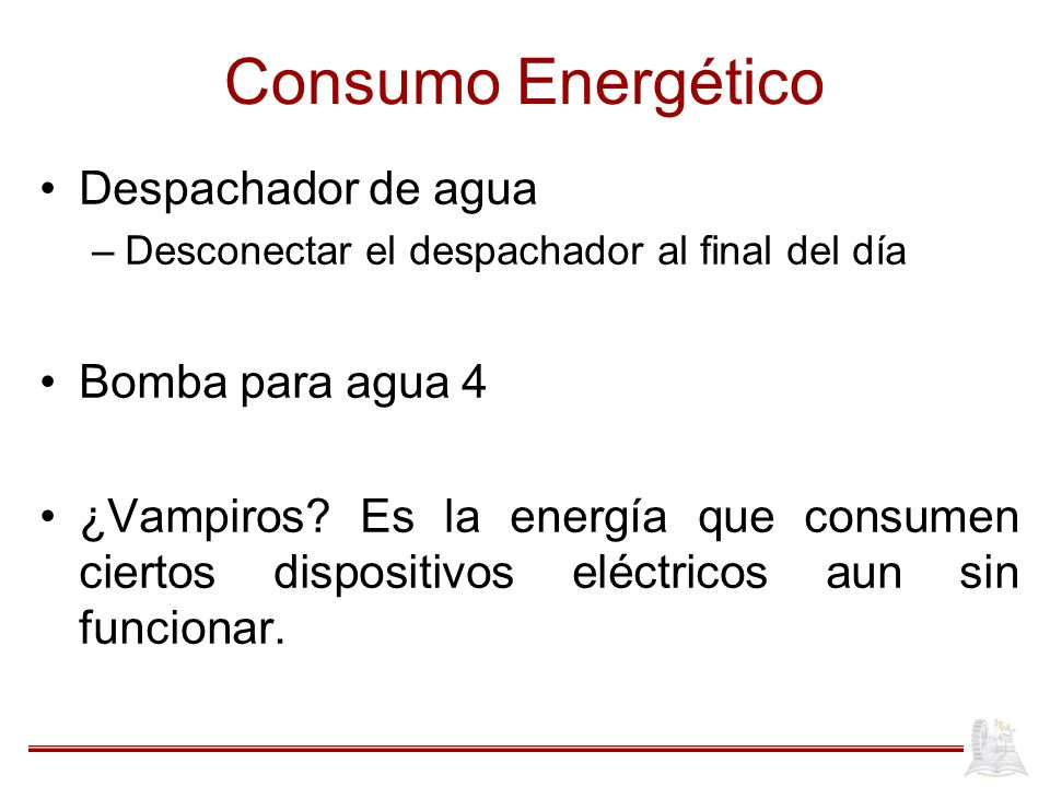 Consumo Energético Despachador de agua Bomba para agua 4
