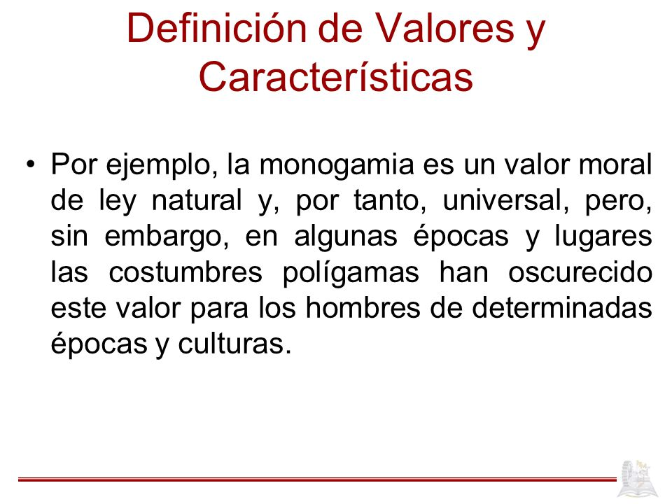 Definición de Valores y Características