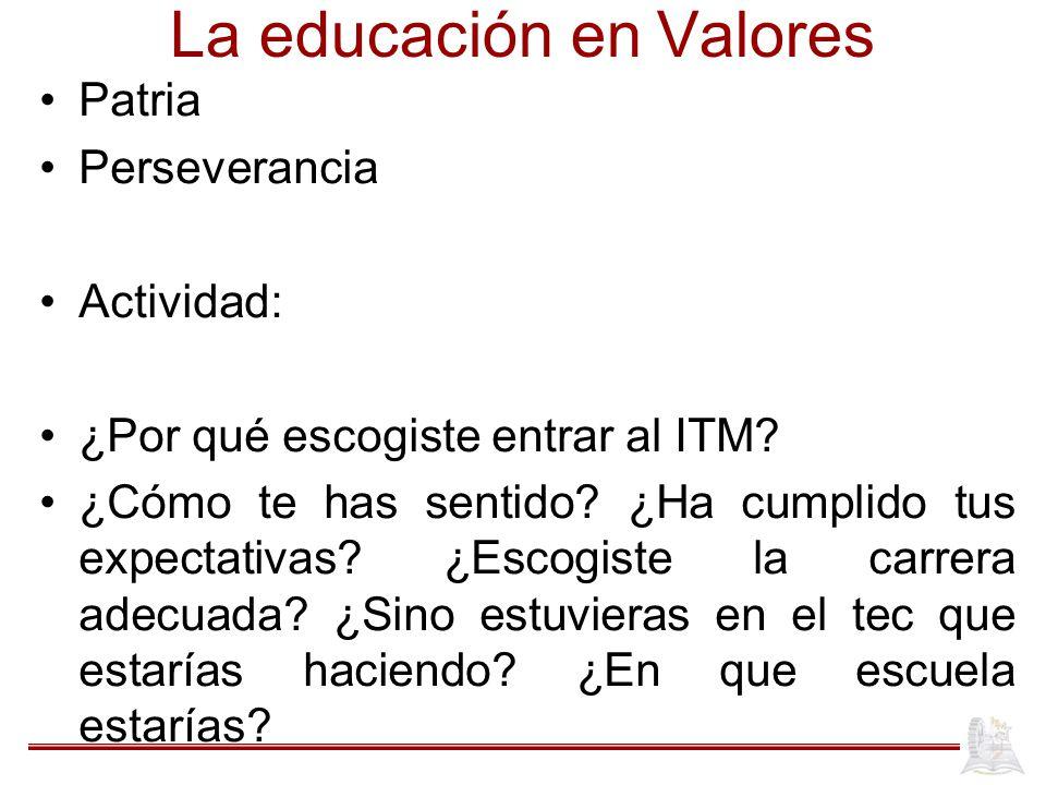 La educación en Valores