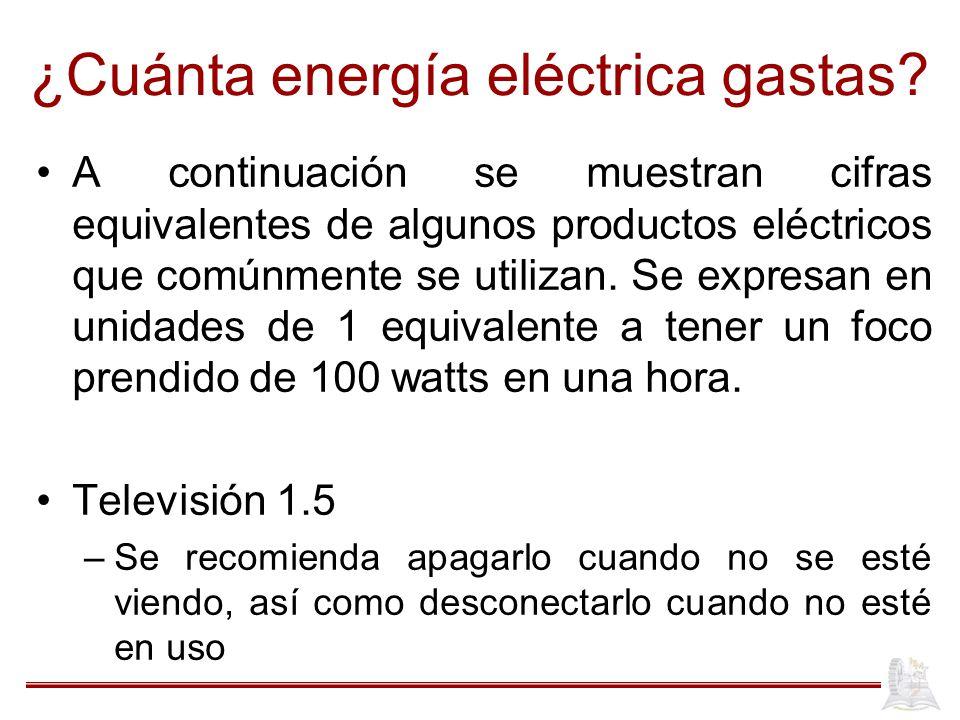 ¿Cuánta energía eléctrica gastas