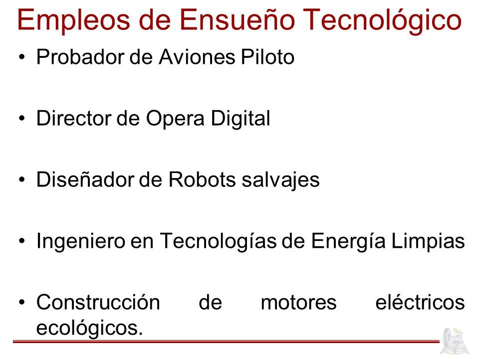 Empleos de Ensueño Tecnológico