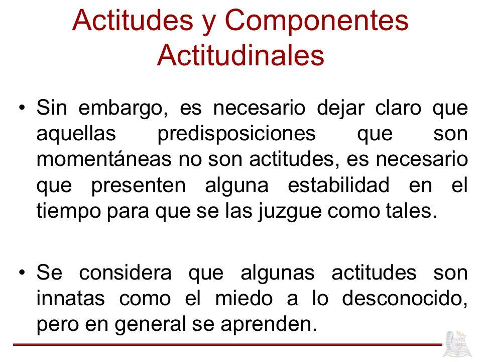 Actitudes y Componentes Actitudinales