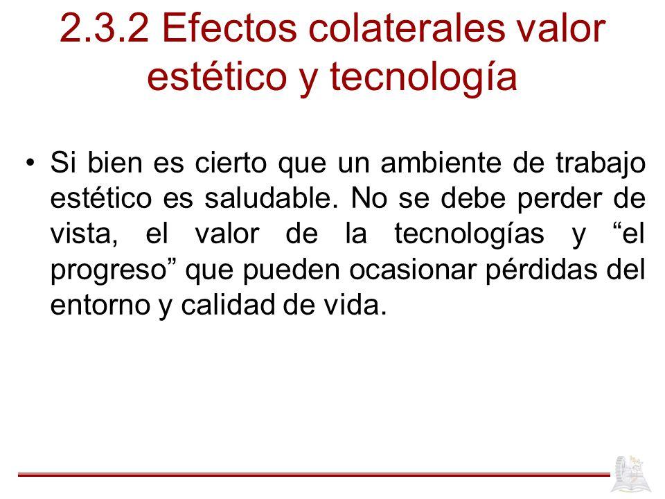 2.3.2 Efectos colaterales valor estético y tecnología