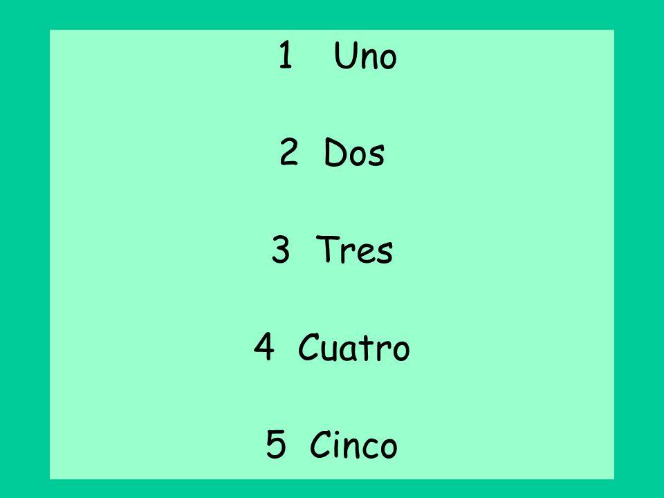 1 Uno Dos 3 Tres 4 Cuatro 5 Cinco