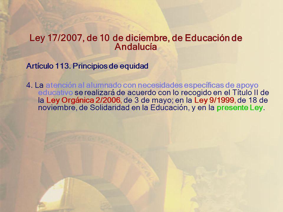 Ley 17/2007, de 10 de diciembre, de Educación de Andalucía